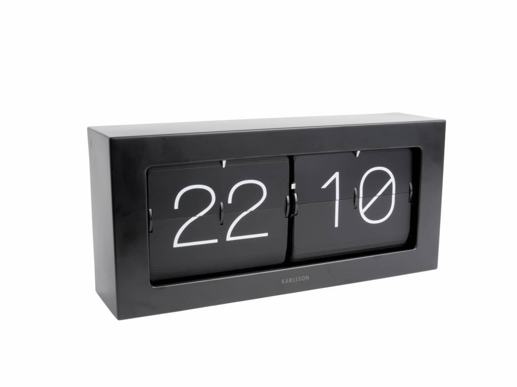 Karlsson Uhr karlsson flip uhr boxed schwarz stahl 17 5x37cm lefliving de