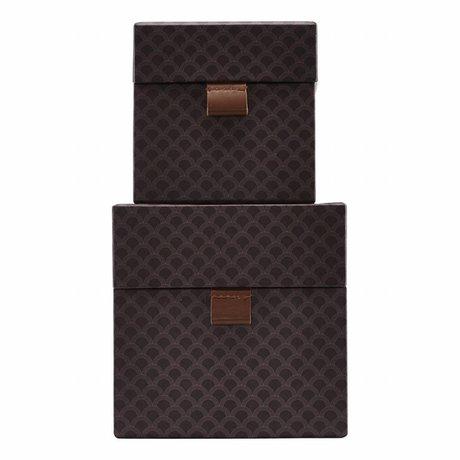 Housedoctor set ventilatore scatola di cartone in pelle viola bagagli piccolo set di 2