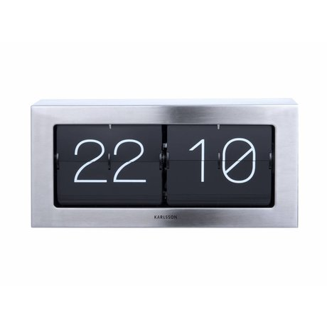 Karlsson Voltear 17,5x37cm reloj en caja de acero de plata