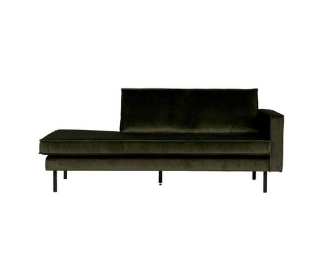 BePureHome Bank Daybed Green Hunter right green Velvet velvet 203x86x85cm