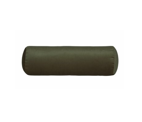 BePureHome Lado almohada cama carrete de terciopelo verde Ø20x61cm terciopelo