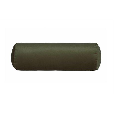 BePureHome Seitenschläferkissen Spool grün Samt Velvet Ø20x61cm