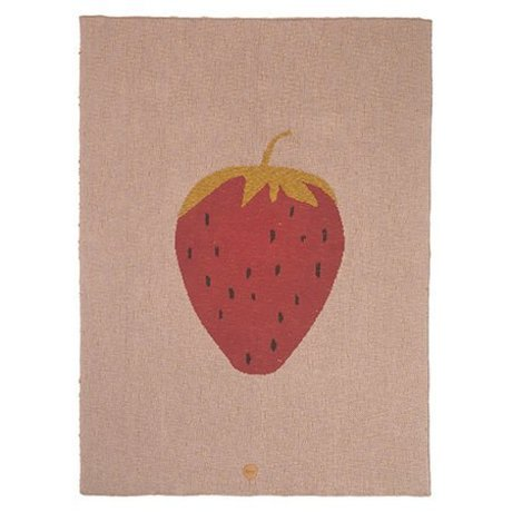 Ferm Living Loft Strawberry pink bomuld 80x100cm
