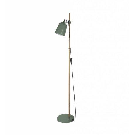 Leitmotiv Floor lamp wood-like green metal 15x14x149cm