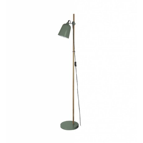 Leitmotiv Gulvlampe Træ-lignende grøn metal 15x14x149cm