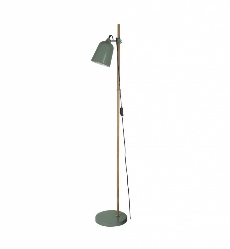 Leitmotiv Lampada da terra in legno-come 15x14x149cm metallo verde ...