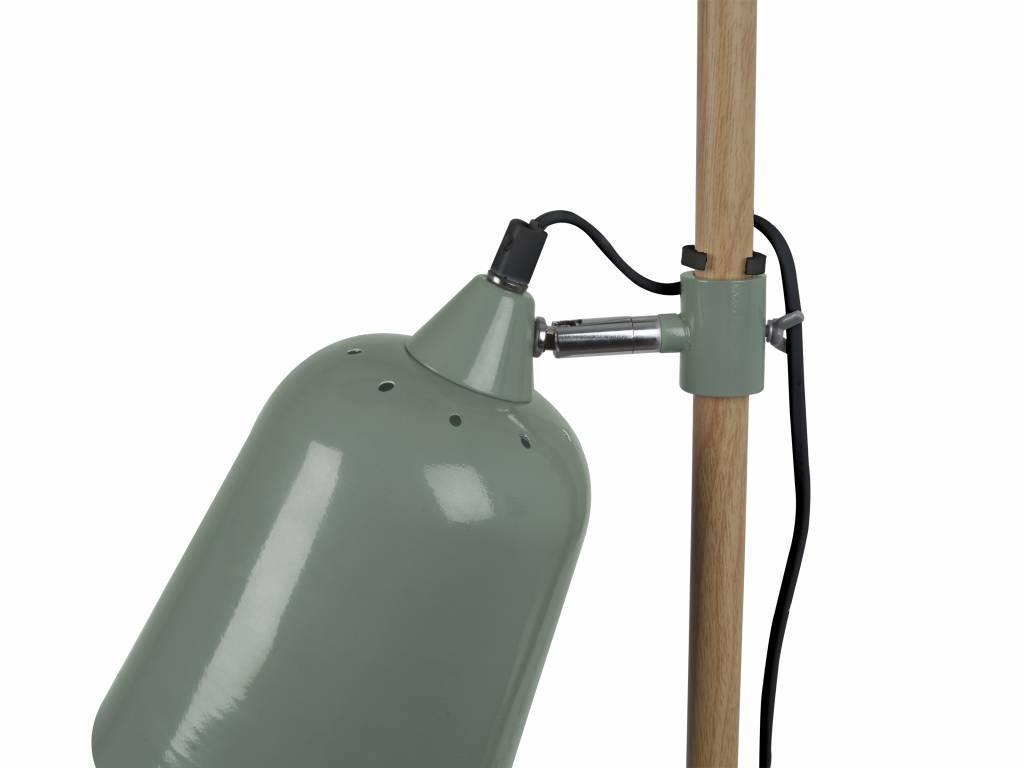 Leitmotiv lampada da terra in legno come 15x14x149cm metallo verde