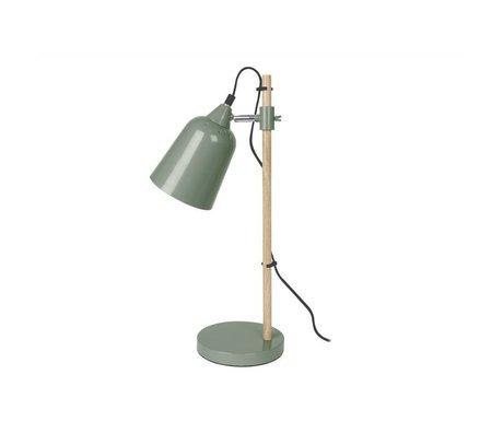 Leitmotiv Bordlampe Wood-lignende grøn metal 12x14x48,5cm