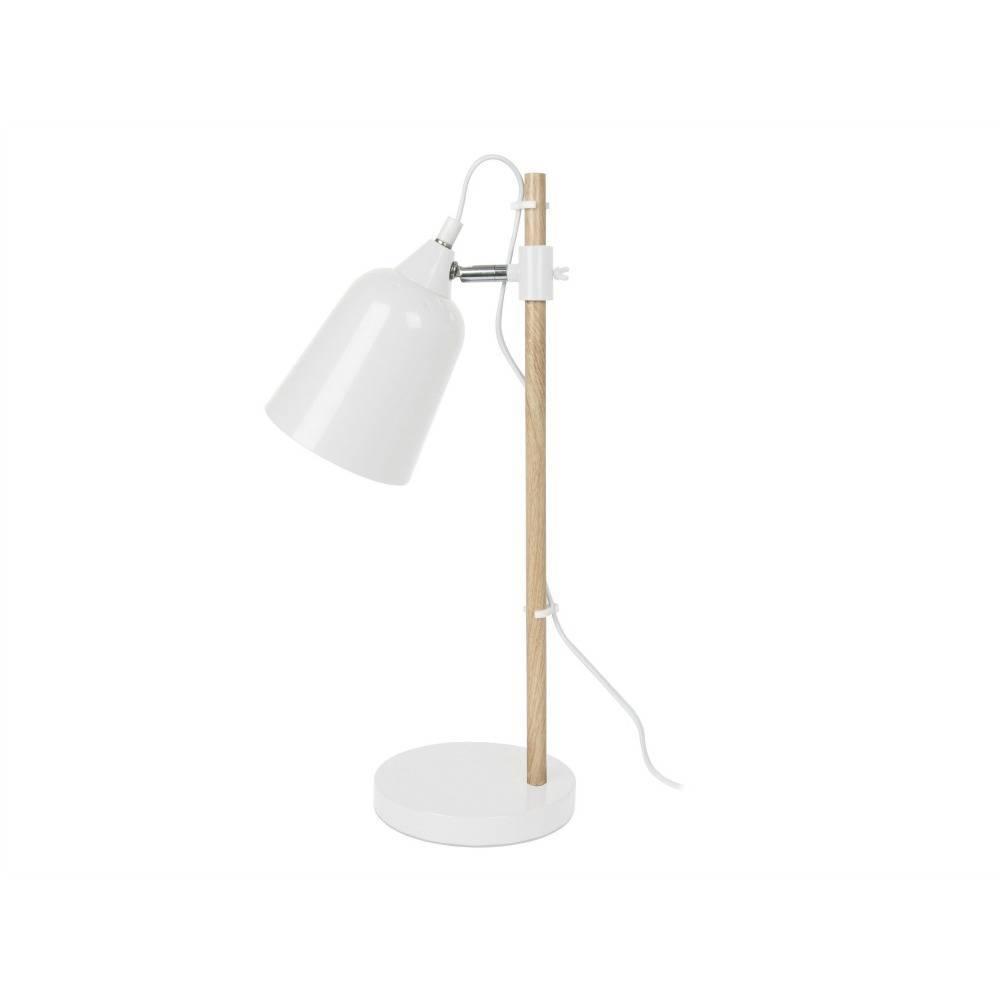 Leitmotiv Lampe De Table En Bois Comme 12x14x48 5cm En Metal Blanc