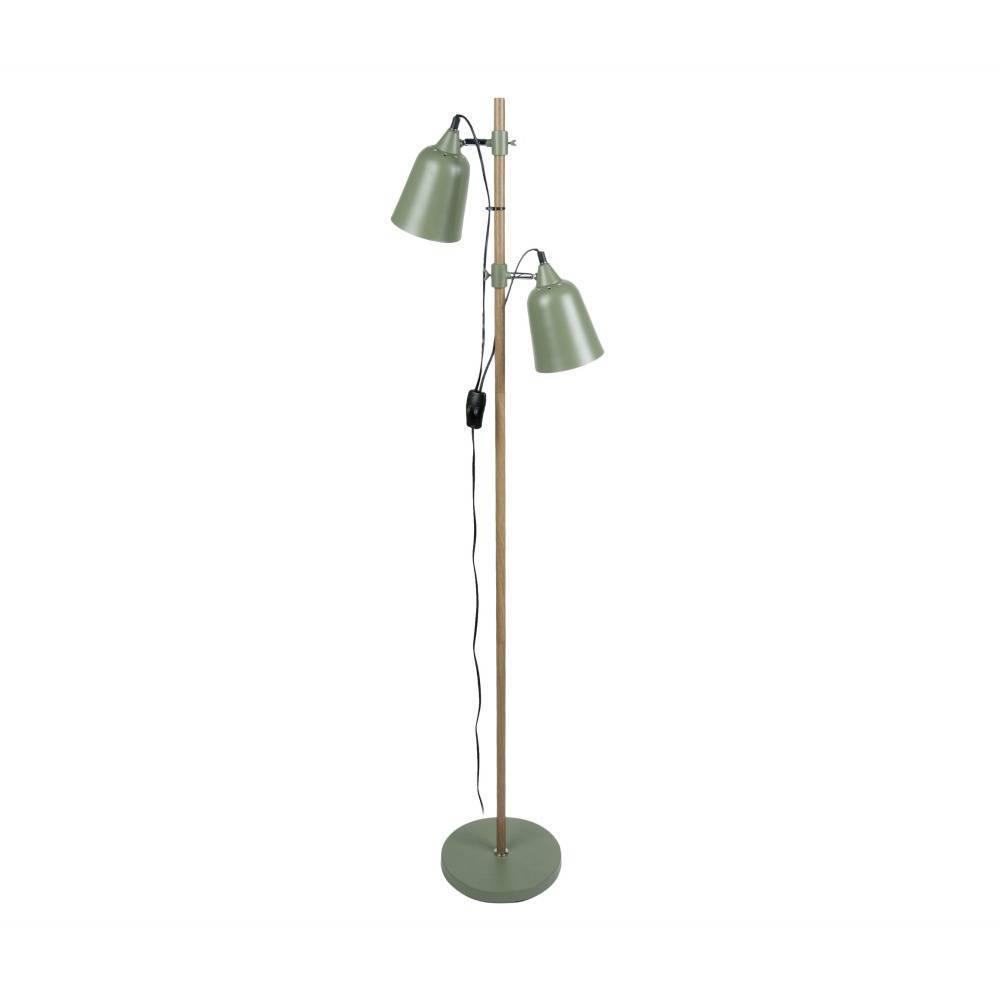 Leitmotiv Lampada da terra in legno-Like 2 15x14x149cm metallo verde ...