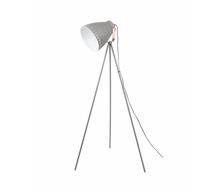 Leitmotiv Floor lamp Mingle gray metal Ø26,5 x145cm