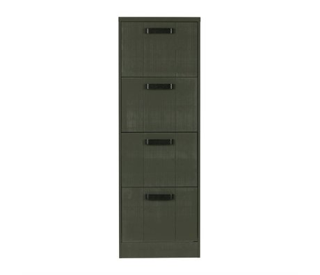 BePureHome Cabinet File filing cabinet forest green pine wood 148x50x44cm