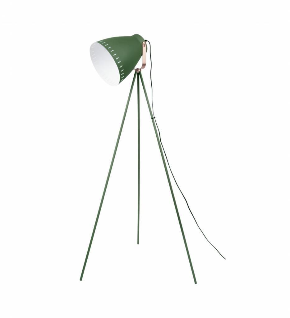 leitmotiv lampadaire mingle métal vert 26,5 x145cm - lefliving