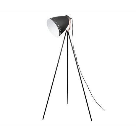 Leitmotiv lámpara de pie Mingle 26,5x145cm de metal negro