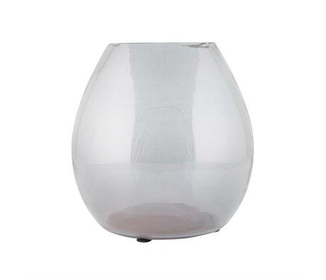 BePureHome Florero simple medio 20x20x20cm cristal transparente gris