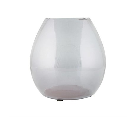 BePureHome Vase Simple Medium grau transparent Glas 20x20x20cm