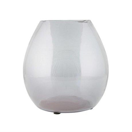 BePureHome Vase Simple Medium gray transparent glass 20x20x20cm
