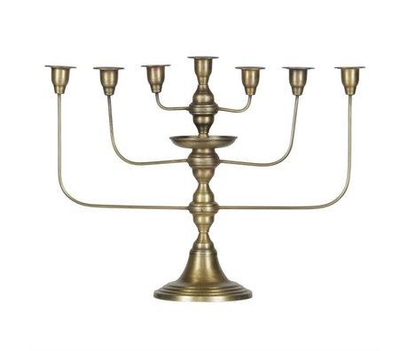 BePureHome Kerzenleuchter Totem laiton métal or antique 46x58x18cm