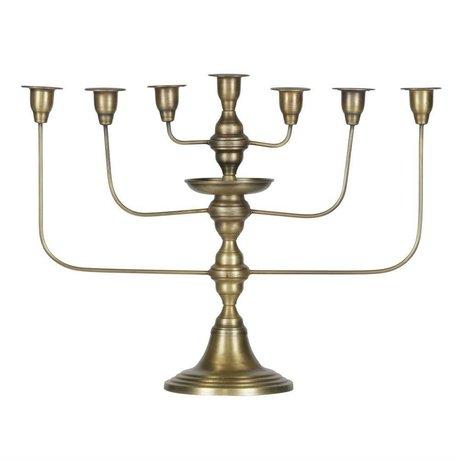BePureHome Kerzenleuchter Totem ottone metallo 46x58x18cm oro antico