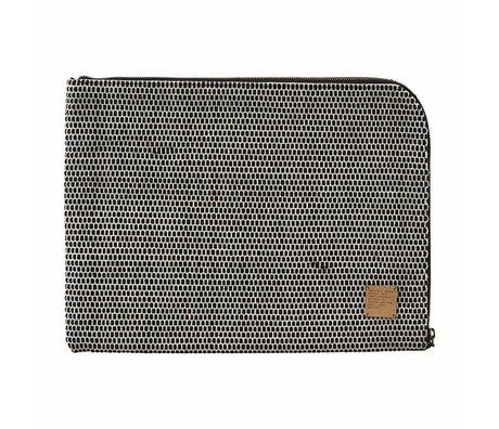 """Housedoctor Custodia per iPad Saf 15 """"di cotone 39x29cm nero"""