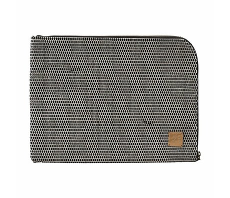 "Housedoctor iPad case Saf 15 ""black white cotton 39x29cm"