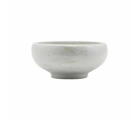 Housedoctor Bowl made of ivory white porcelain Ø19x9cm