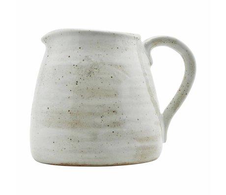 Housedoctor Jug Fabriqué en porcelaine blanche ivoire 15cm