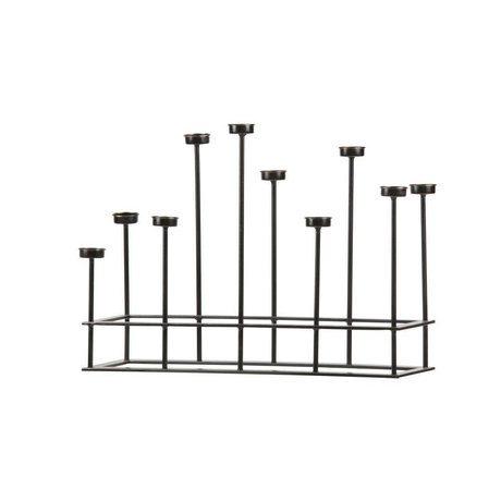 BePureHome Lysestage surround black metal 40x58,5x17,5cm