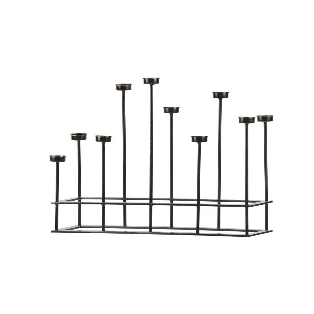 bepurehome kerzenst nder surround schwarz metall 40x58 5x17 5cm. Black Bedroom Furniture Sets. Home Design Ideas