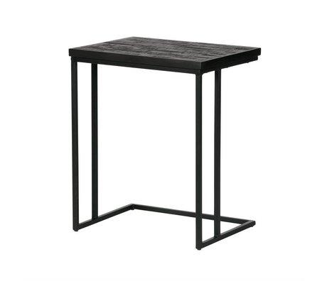 BePureHome Table Partage U en bois noir 55x45x35cm