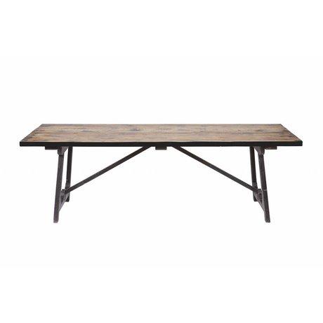 BePureHome Spisebord Craft brun sort træ 76x190x90cm