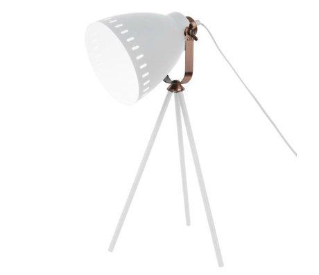 Leitmotiv Mêlez lampe de table métal blanc à ~ 16.5x54x31cm