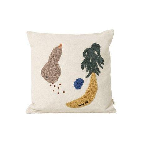 Ferm Living Cojín de crema de plátano 40x40cm tela de algodón