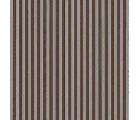 Ferm Living Tapete Thin Lines bordeauxrot grau 53x1000cm