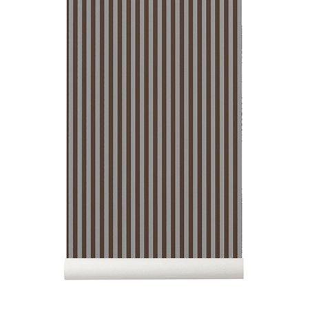 ferm living tapete thin lines bordeauxrot grau 53x1000cm. Black Bedroom Furniture Sets. Home Design Ideas