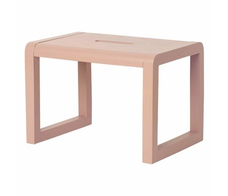 Ferm Living Stol Lille Arkitekt lyserød træ 33x23x23cm