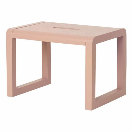 Ferm Living Sandalye Küçük Mimar pembe ahşap 33x23x23cm