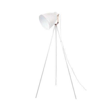 Leitmotiv Karıştırmak zemin lambası beyaz metal 26,5x145cm