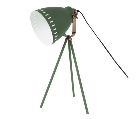 Leitmotiv Lampe de table Ø16.5x54x31cm métal vert Mingle