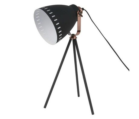 Leitmotiv lámpara de mesa Mingle Ø16.5x54x31cm de metal negro