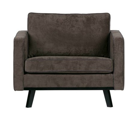 BePureHome Sessel Rebel brushed braun Polyester Holz 85x105x86cm