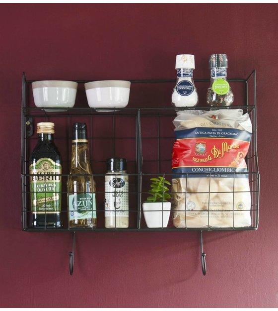 Mensola da cucina in metallo nero 24x15,5x46,5cm - lefliving.com