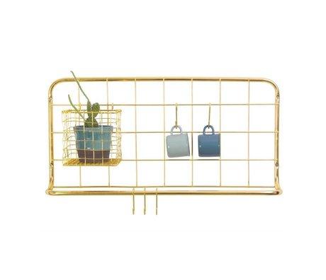 pt, Køkken hylde gyldent jern 60x30x5cm