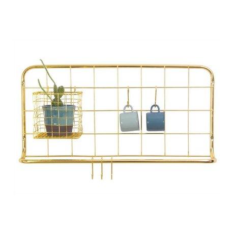 pt, Kitchen shelf golden iron 60x30x5cm