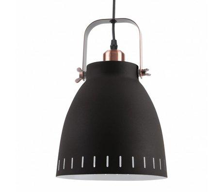 Leitmotiv Lampe à suspension Pendentif Mingle métal noir Ø26,5x19x26,5