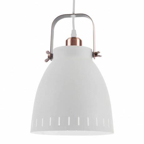 Leitmotiv Lampe à suspension Pendentif Mingle métal blanc Ø26,5x19x26,5
