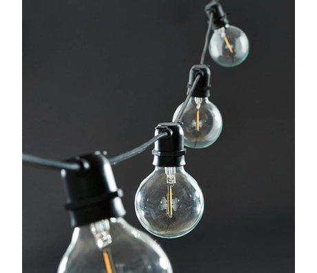 Housedoctor Housedoctor Lichterkette schwarz 10 Lampen Gummi 10,2
