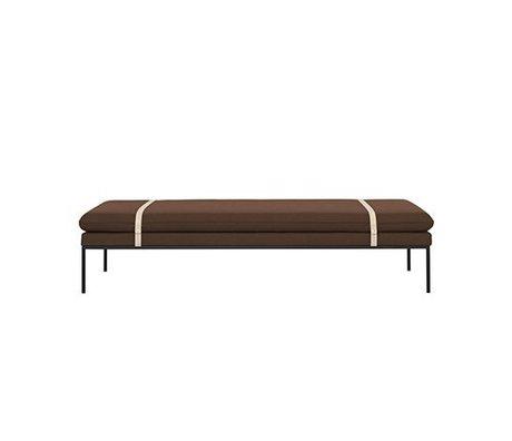 Ferm Living Daybed Turn rostfarben Wolle Nylon 190x80x42,5cm