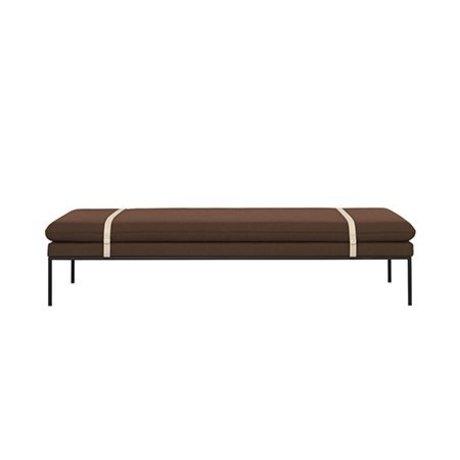 Ferm Living Daybed Turn Rusty Ull Nylon 190x80x42,5cm
