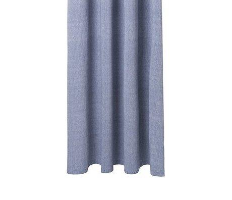 Ferm Living Rideau de douche Chambray bleu coton 160x205cm